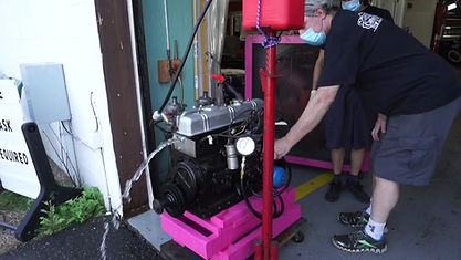 Triumph TR6 Rebuilt Engine Running