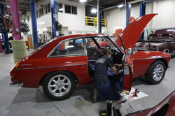 Ivan working on this '72 MGB GT