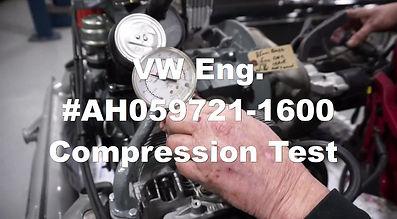 VW Rebuilt Engine Compression Test