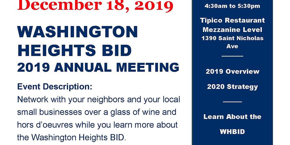 Washington Heights BID 2019 Annual Board Meeting