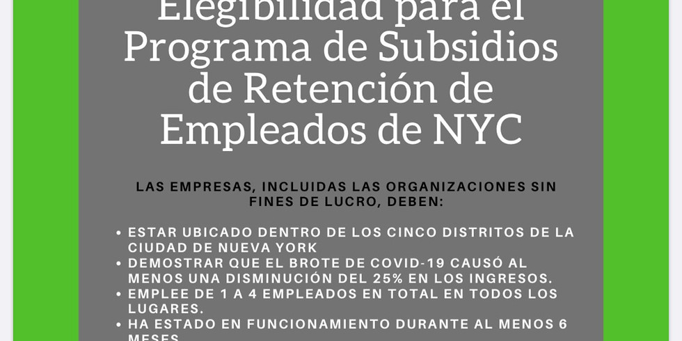Elegibilidad para Programa de Subsidios de Empleados de NYC