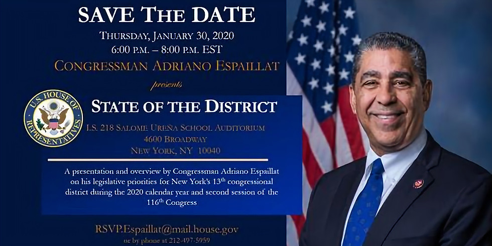 2020 State of the District of Adriano Espaillat