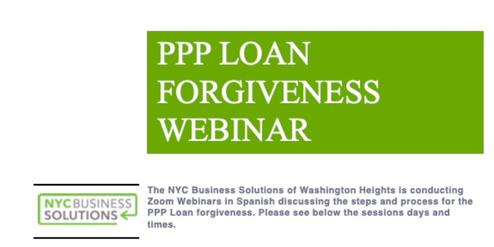 The NYC Business Solutions of Washington Heights is conducting Zoom webinar.