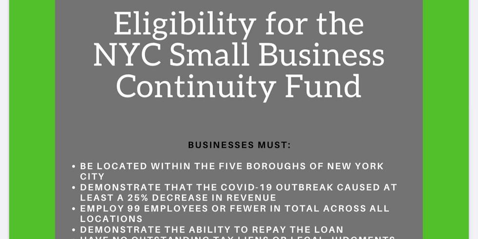 Eligibility for the NYC Employee Retention Grant Program