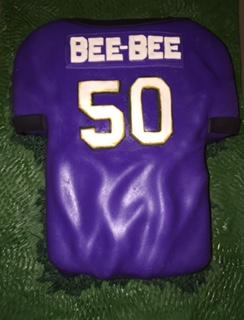 Baltimore Ravens Jersey Cake