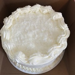 Coconut Topped Carrot Cake