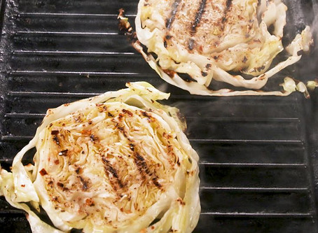 """Grilled Cabbage """"Steaks"""""""
