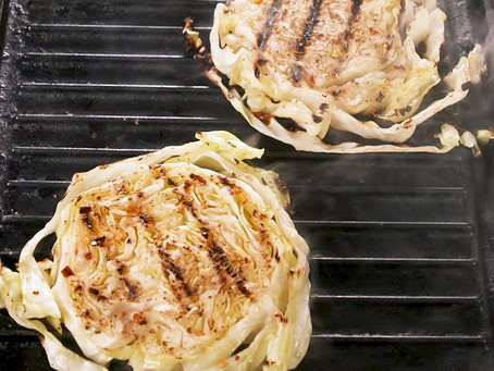 "Grilled Cabbage ""Steaks"""
