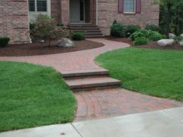Brick Walkway Entrance