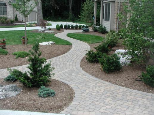 Creative Brick Walk Way