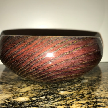 Calabash Purple Stain Ash Bowl with Brass Powder Accent