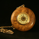 Claro Walnut Clock with Gold Chain and Clip