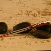 Slimline Cartridge Bloodwood Bullet Pen with Chrome Trim