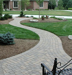 Functional Brick Walkway From The Street To The Front Entrance In The Front Yard