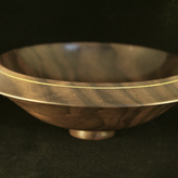Walnut Bowl with Brass Inlay - SOLD