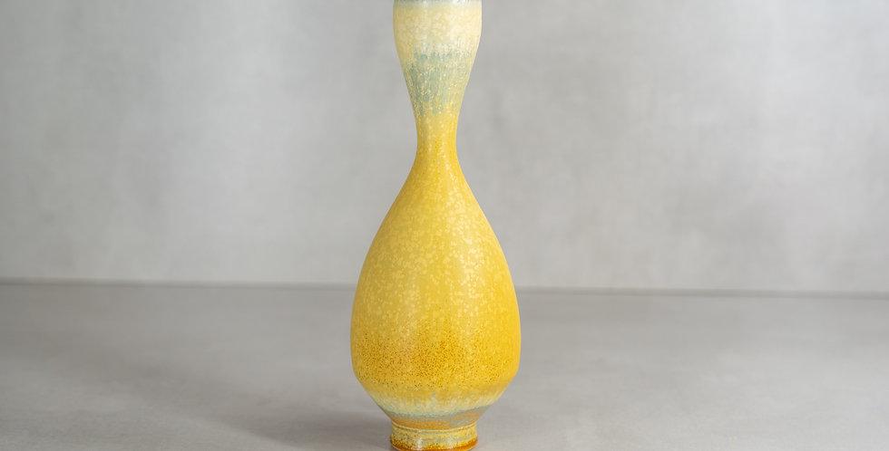 漸變黄檗手工花瓶