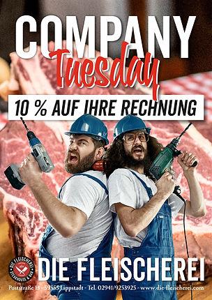 Dienstags 10 Prozent sparen bei Geschäftsessen in Lippstadt