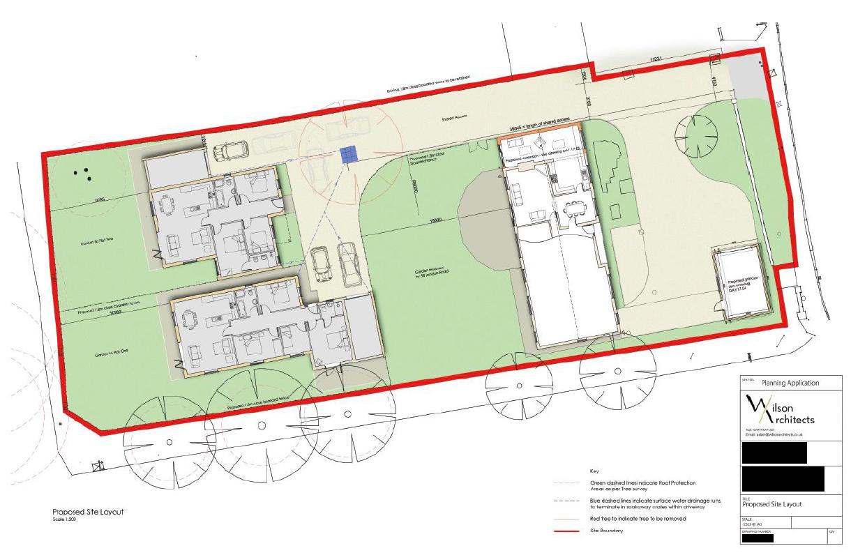 London Road site location plan