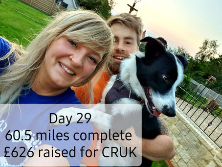 Heidi did it!! She ran 60 miles in September for Cancer Research UK!