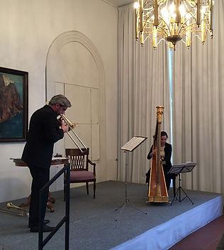 Posaune und Harfe