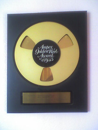 The Ampex Gold Reel Award for teh album Wonderful Life by Black