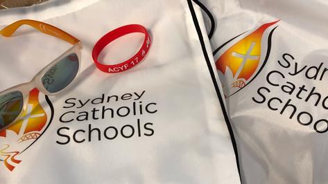 Getting set for Sydney's Australian Catholic Youth Festival!