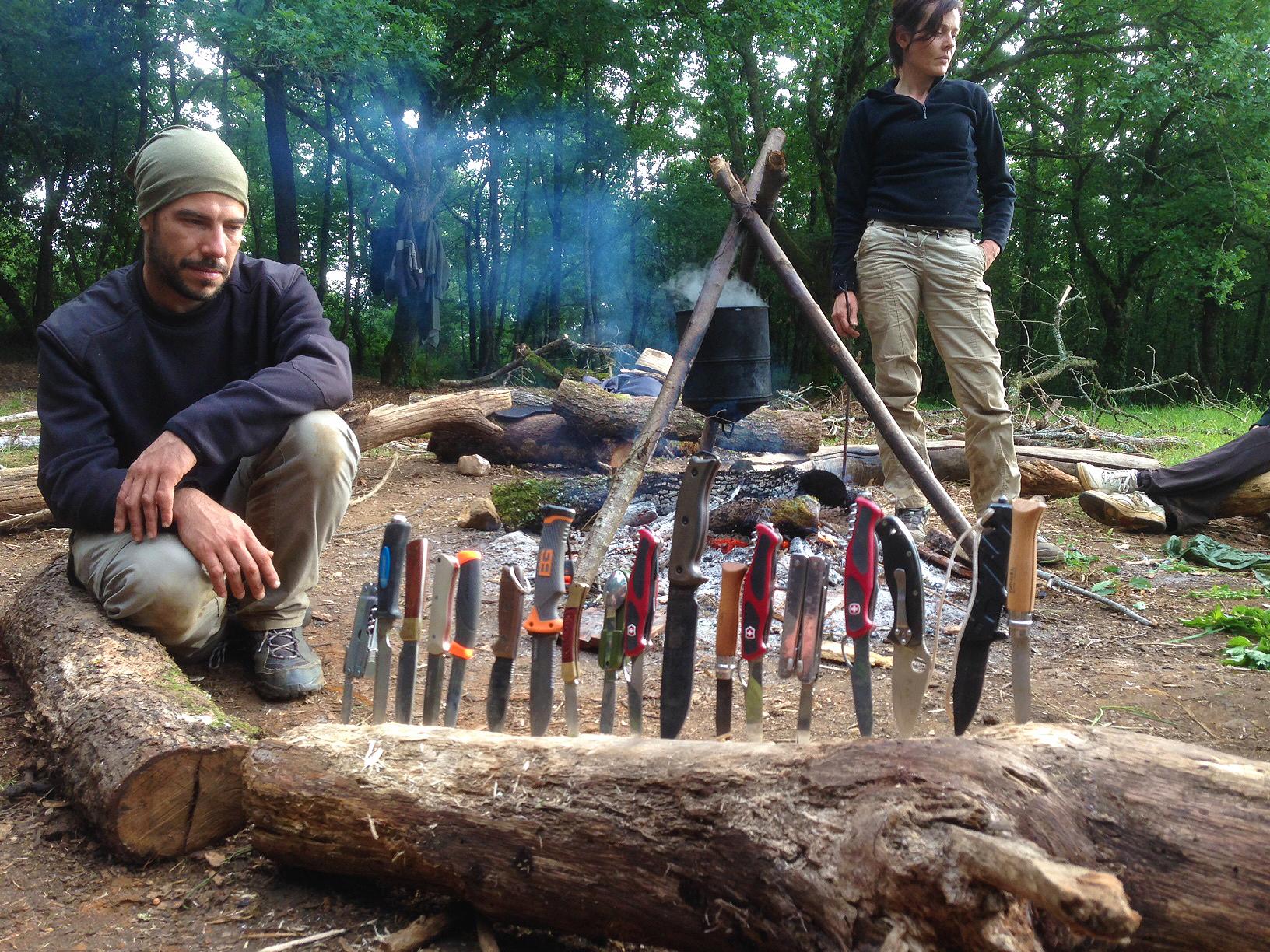 photo de groupe de nos couteaux