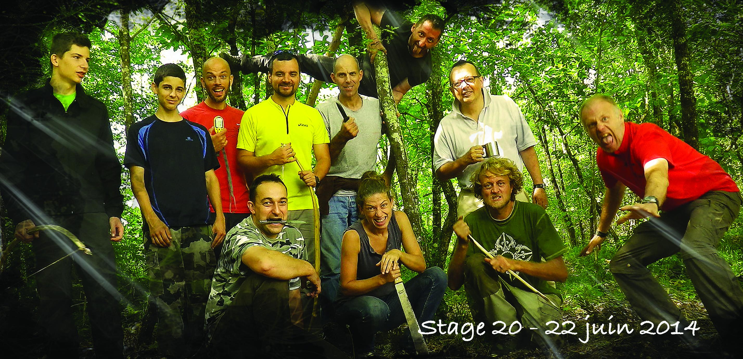stage de survie dans les bois