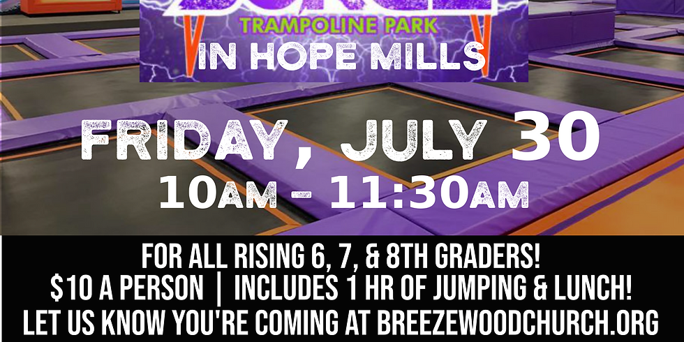 Middle School Party at Surge Trampoline Park!