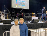 Pastor Stacey and Judy Jones, Family Ministries Coordinator of Salem United Methodist Church Upper Falls, Maryland at the February 2020 Rock Retreat in Ocean City, Maryland.