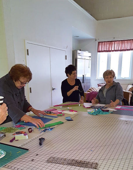 Members of the Sewing Samaritans gather to work on lap quilts at Salem United Methodist Church Upper Falls Md