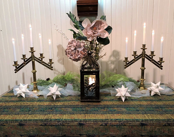 Altar for the After the Star sermon series at Salem United Methodist Church Upper Falls Maryland