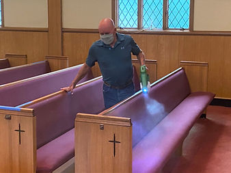 COVID cleaning precautions at Salem United Methodist Church Upper Falls, Maryland