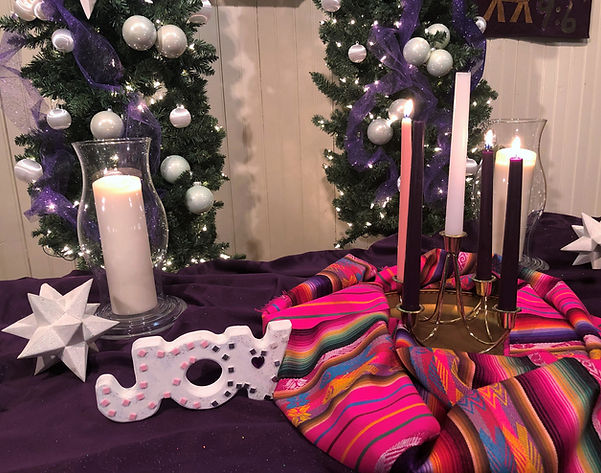 Advent 2020 Altar at Salem United Methodist Church, Upper Falls, Maryland