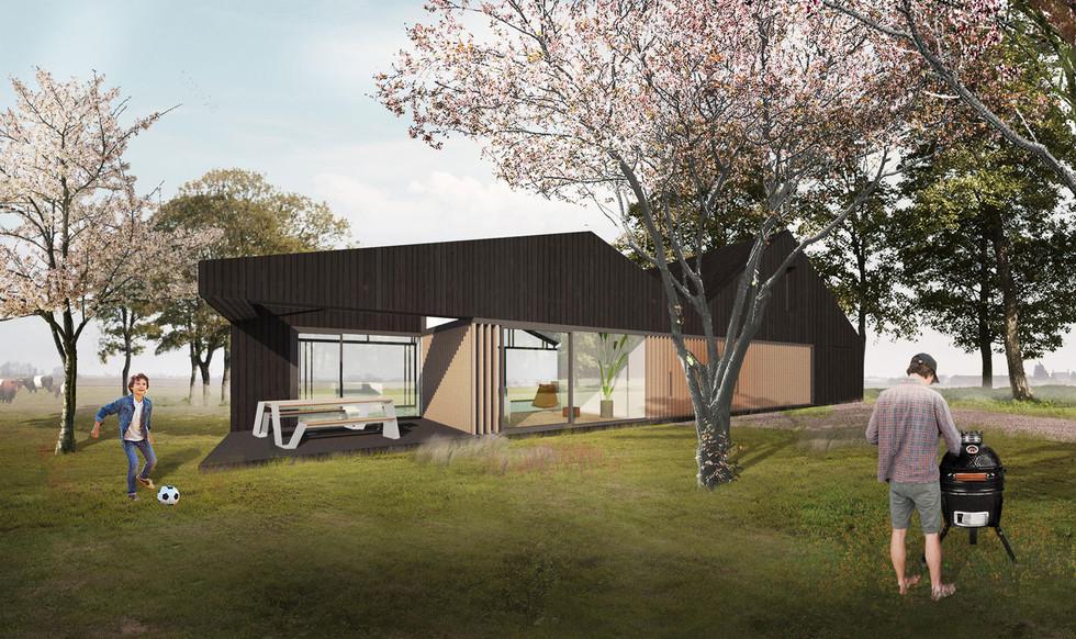 zelf huis bouwen op eigen kavel architect woonschuur