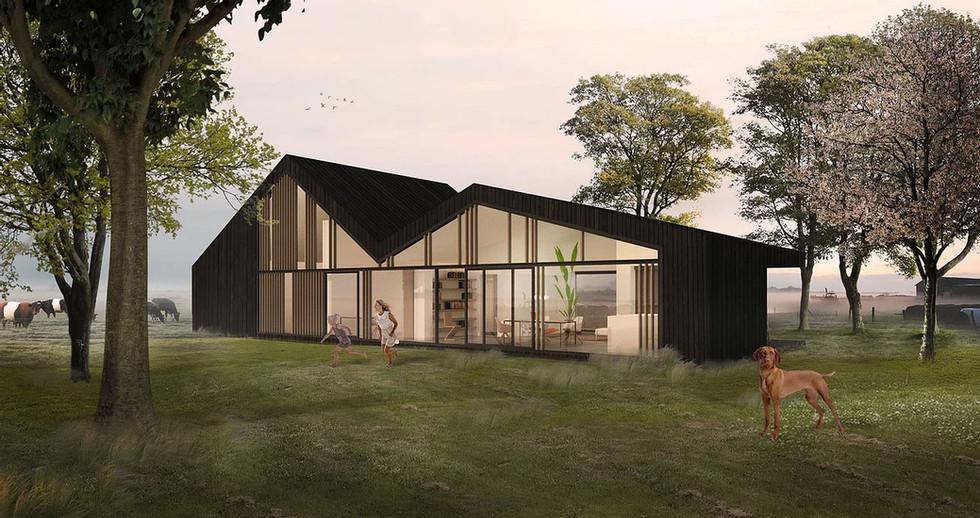 eigen kavelhuis bouwen woonschuur ontwerp architect
