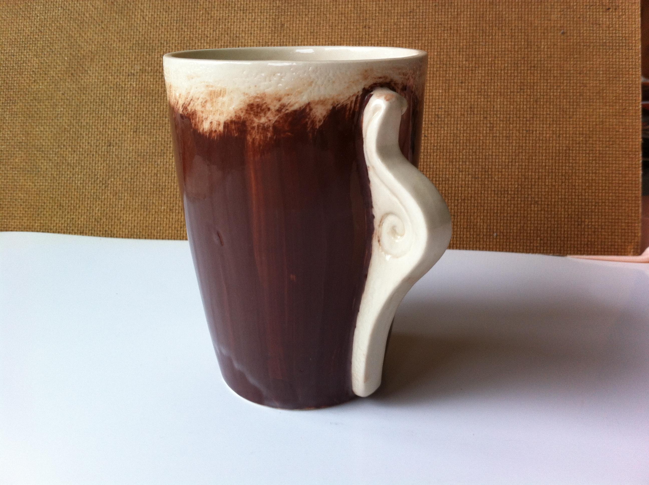 mug with snails