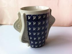 tea mug with 2 sets of snails