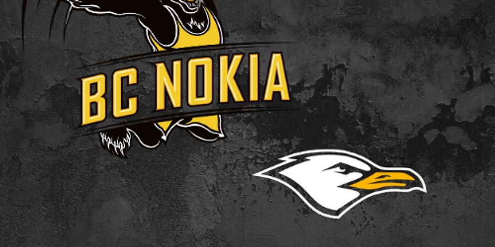 BC Nokia vs. Helsinki Seagulls   Otteluisäntä: Pancho Villa Nokia