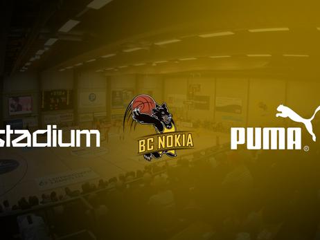 BC Nokia, Stadium ja Puma Finland solmivat pitkäaikaisen yhteistyösopimuksen
