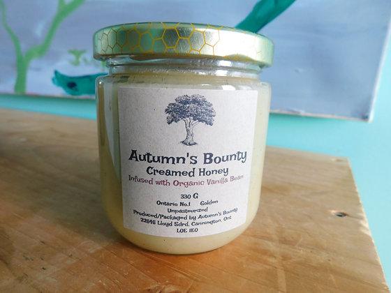 Infused with Organic Vanilla Bean Autumn's Bounty Creamed Honey