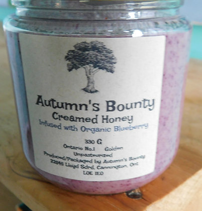 Infused with Organic Blueberry Autumn's Bounty Creamed Honey
