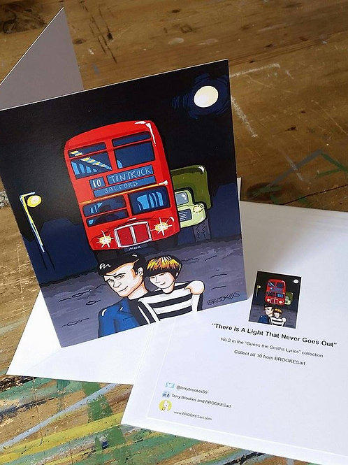 """The Smiths Lyric Greeting Card No 2 """"There is a light"""""""