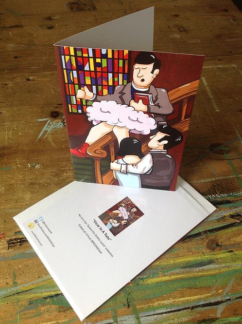 "The Smiths Lyric Greetings Card No 10 ""Vicar in a Tutu"""