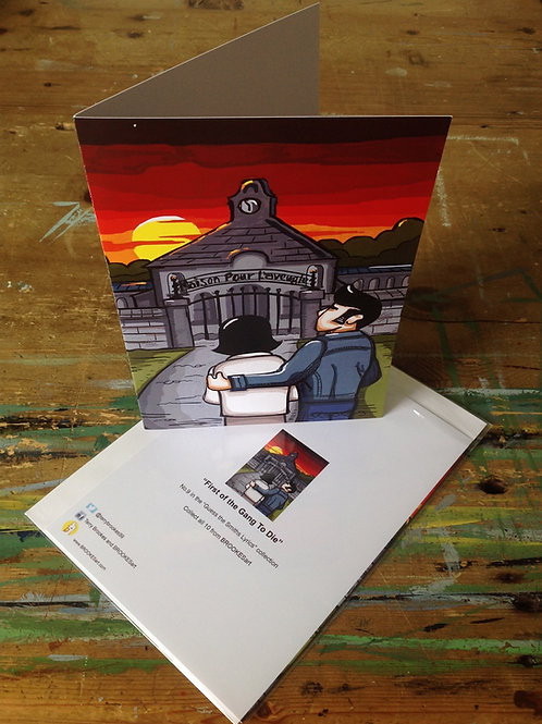 """The Smiths Lyric Greetings Card No 9 """"The first of the Gang to Die"""""""