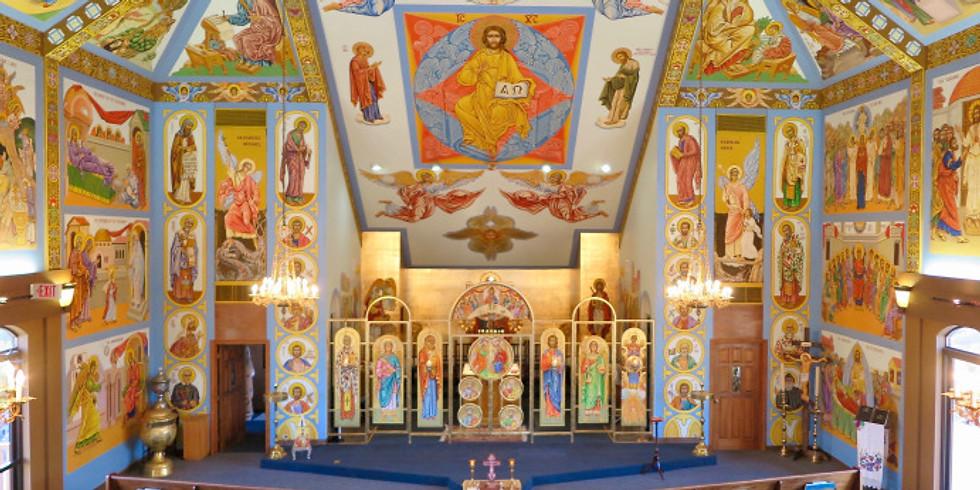 Vespers (Evening Prayer), Dinner, and Talk by Will Peterson of Modern Catholic Pilgrim
