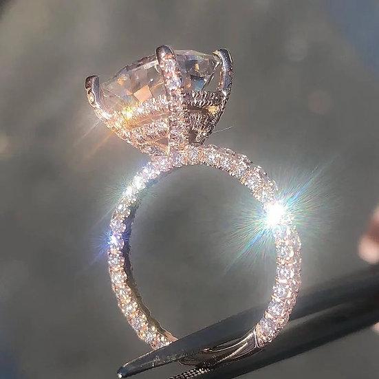 Rose Gold Big Square Ring