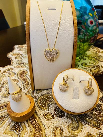 Dainty Heart Necklace Set