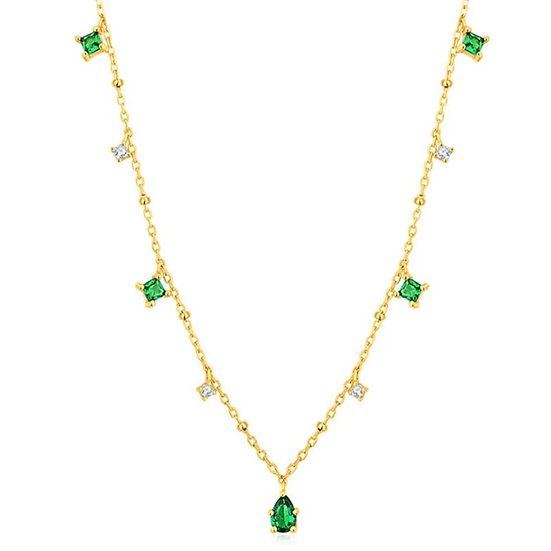 Emerald Green Charm Necklace