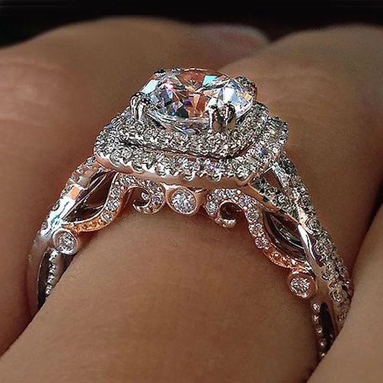 Two Tone CZ Ring